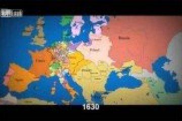מדהים: מפת אירופה מ-1,000 לספירה ועד ימינו ב-2.5 דקות